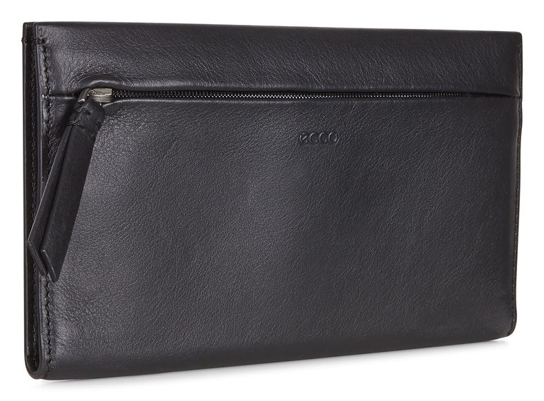 Sculptured Large Wallet (Nero)